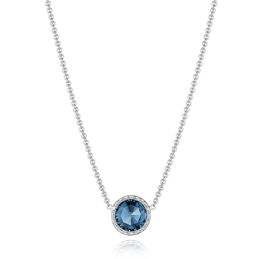 Tacori London Blue Topaz Floating Bezel Pendant Island Rains Necklace