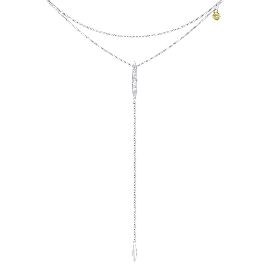 Tacori Silver Double Chain Surfboard Lariat The Ivy Lane Necklace