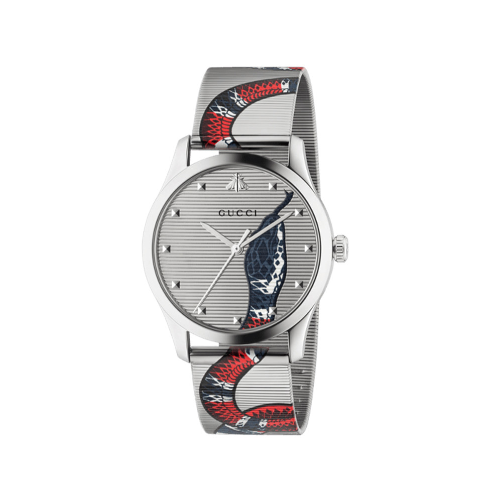6e3047d9349 Gucci G-Timeless 38mm Stainless Steel Snake Watch