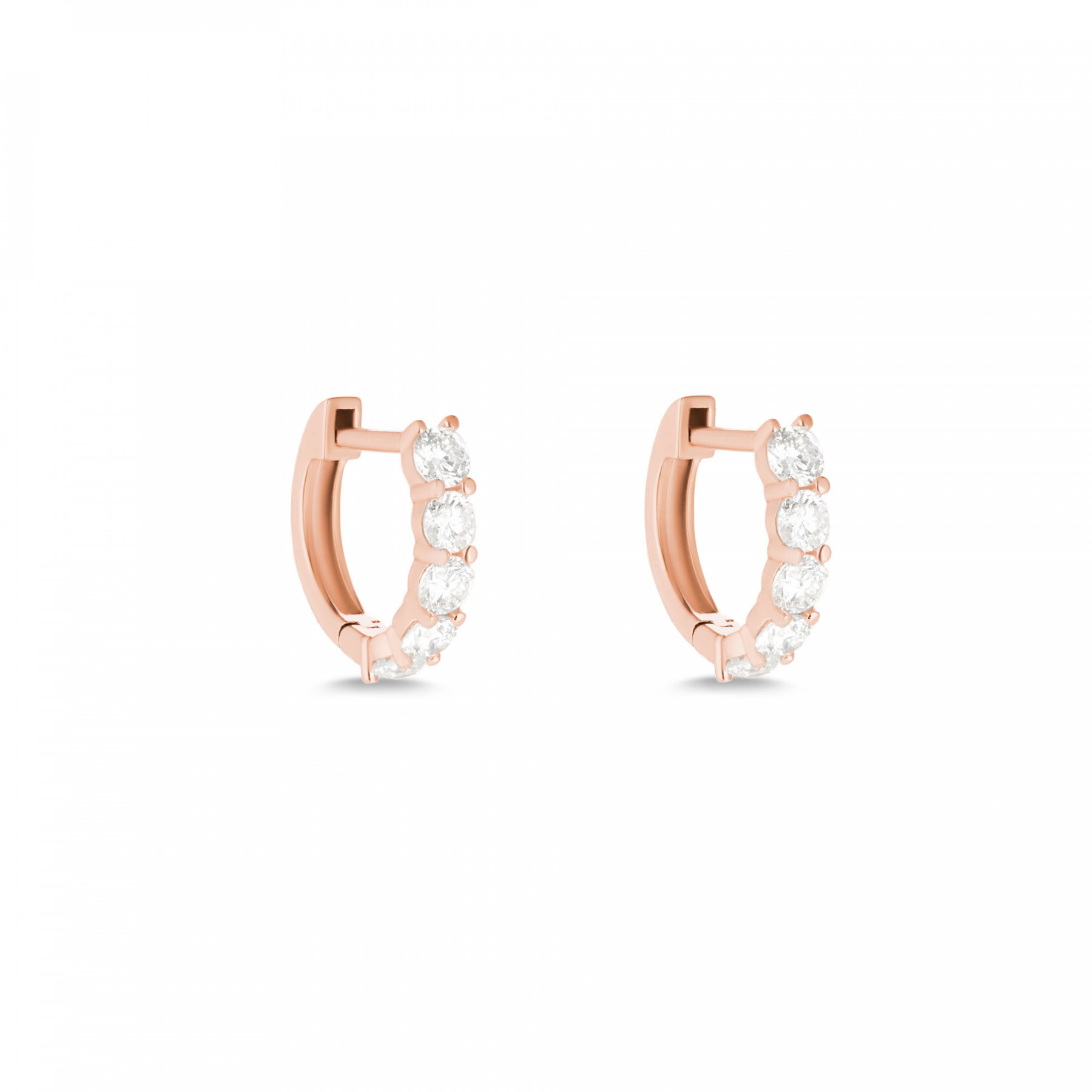 Carbon and Hyde Gold Sparkler Huggie Diamond Earrings