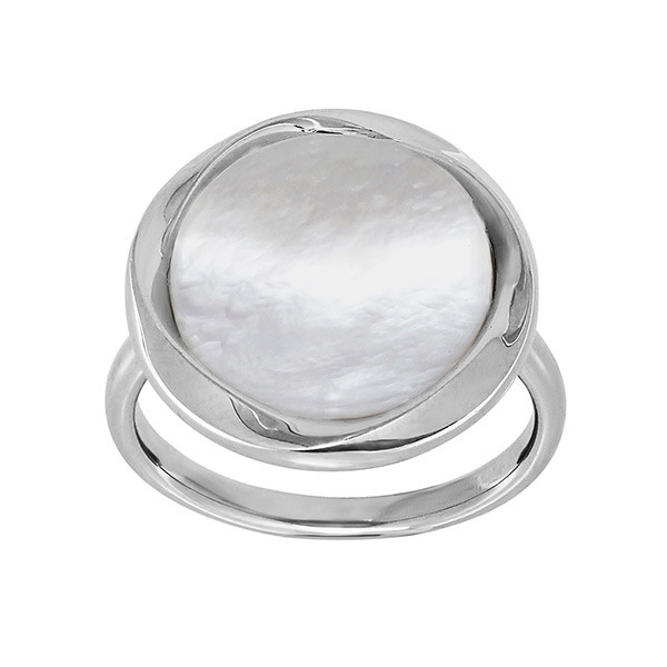 Honora Circle White Mother of Pearl Reflection Ring