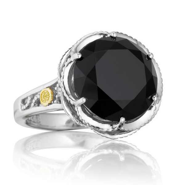 fb68bb14fbd72 Tacori Black Lightning Sterling Silver Black Onyx Cocktail Ring