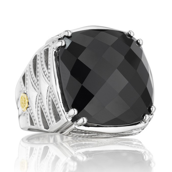Tacori 18K925 Black Onyx Classic Rock Ring