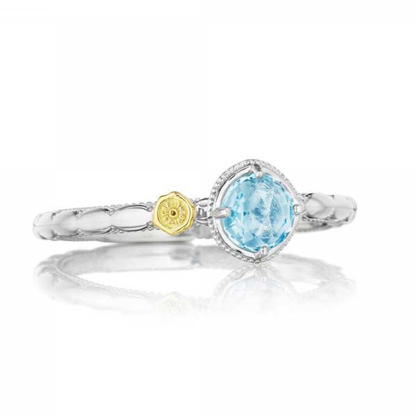 Tacori 18K925 Island Rains Small Sky Blue Topaz Ring
