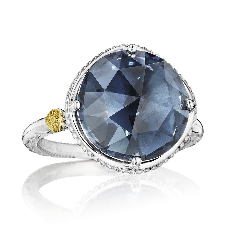 Tacori Silver Bold London Blue Topaz Island Rain Cocktail Ring
