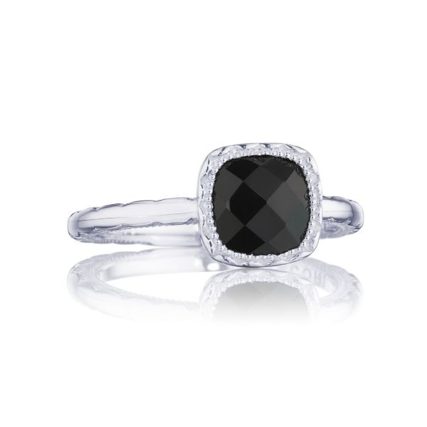Tacori Crescent Embrace Black Onyx Ring in Sterling Silver