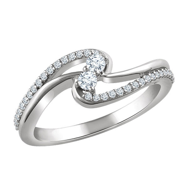 1/4 Carat Two Stone Diamond Ring