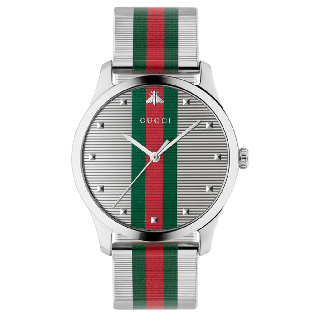 Gucci G-Timeless 42mm Stainless Steel Mesh Watch face