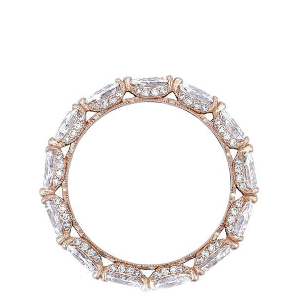 Tacori RoyalT Pear Pavé Diamond Eternity Band in 18K Gold side view