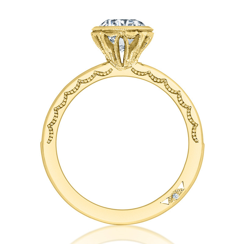 Tacori 301-25RD6-25 Channel Set Yellow Gold Engagement Starlit Setting Edge View