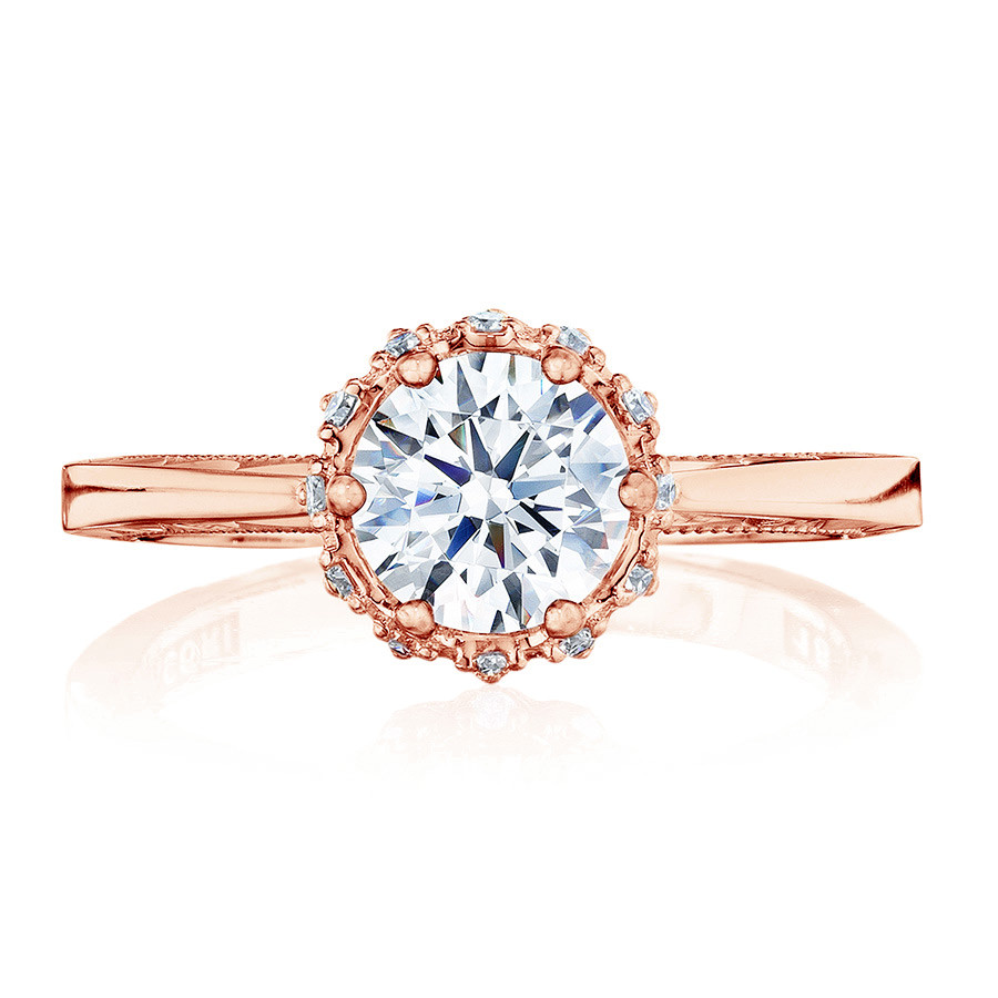 Tacori 59-2RD5-PK Sculpted Crescent Floral Rose Gold Engagement Ring Setting