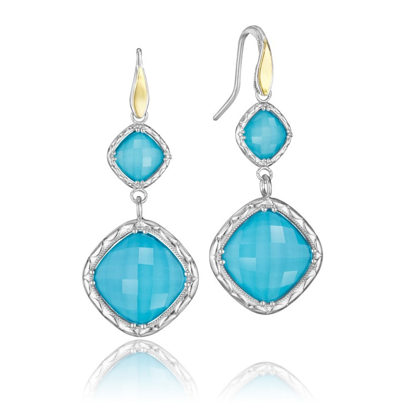 Tacori Sterling Silver Barbados Blue earrings