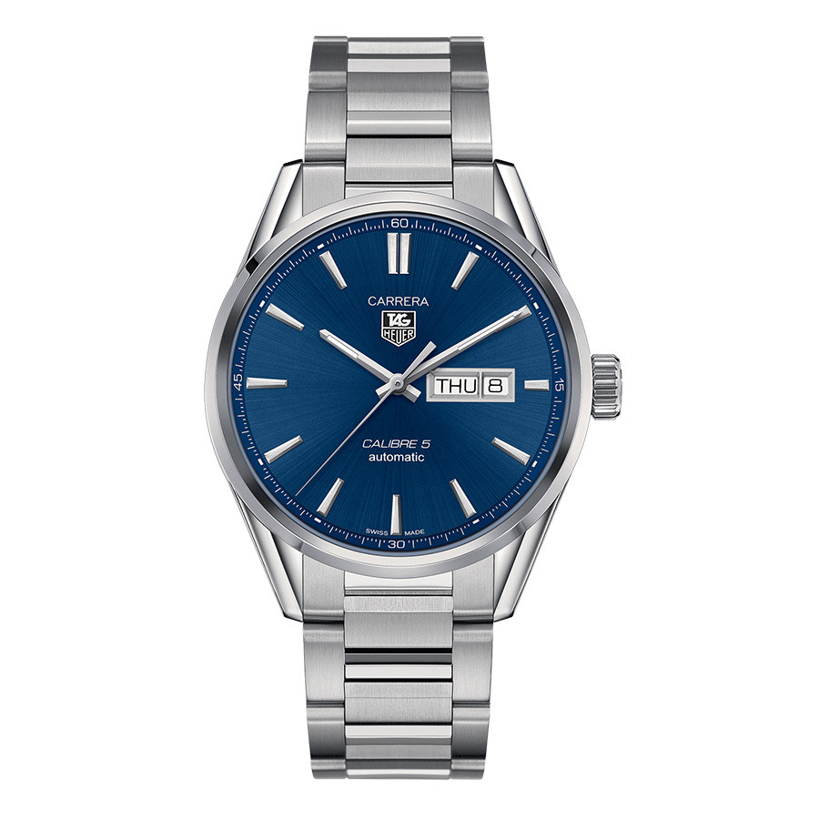 Tag Heuer Calibre 5 Day-Date Blue Dial Carrera Watch