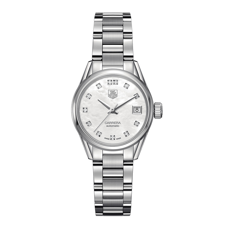 Tag Heuer Calibre 9 White Mother of Pearl Dial Carrera Watch