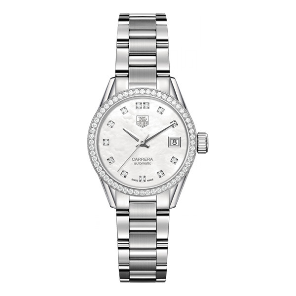 Tag Heuer Calibre 9 Diamond Mother of Pearl Watch