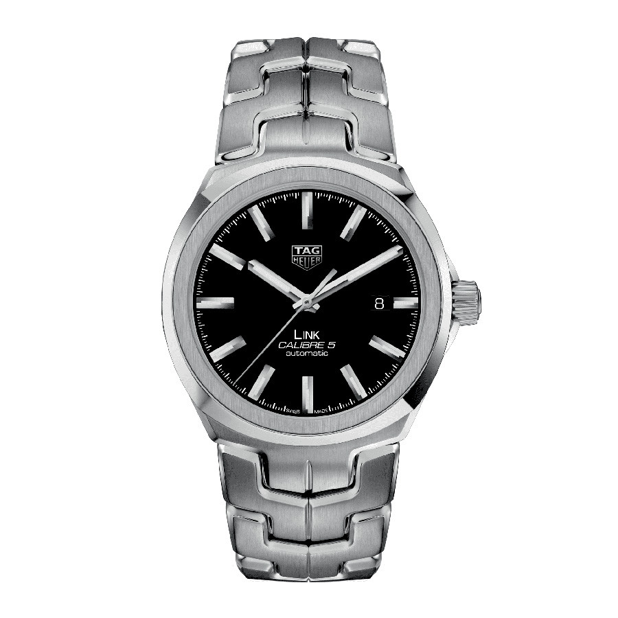 Tag Heuer Calibre 5 Black Dial Link Watch