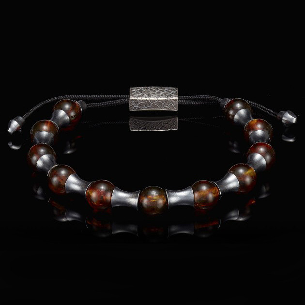 William Henry Adjustable Amber Zenith Bead Bracelet Back View