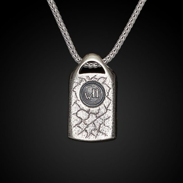 William Henry Dog Tag Dino Spark Necklace Rear View
