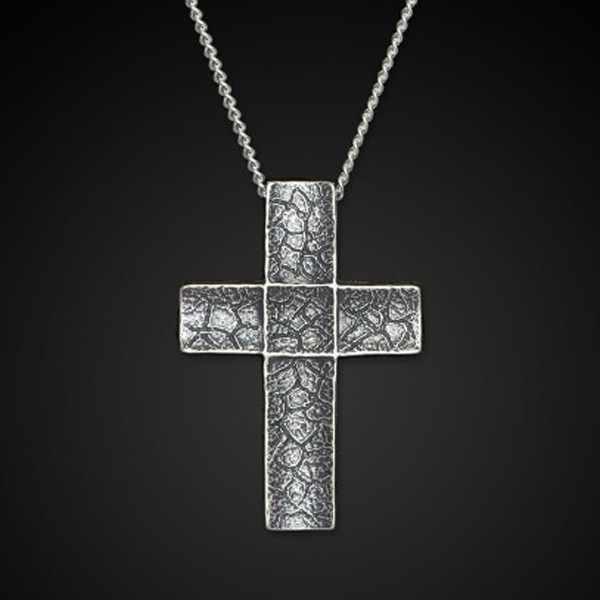 William Henry Sterling Silver Unum Cross Necklace Back View