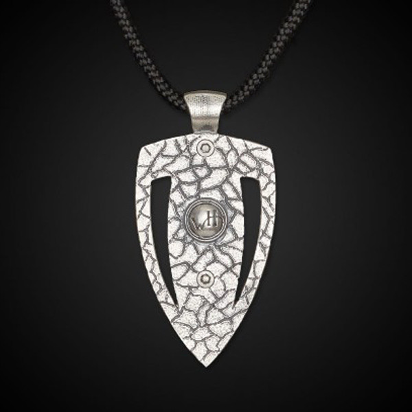 William Henry Arrow Head Damascus Amp Necklace Back View