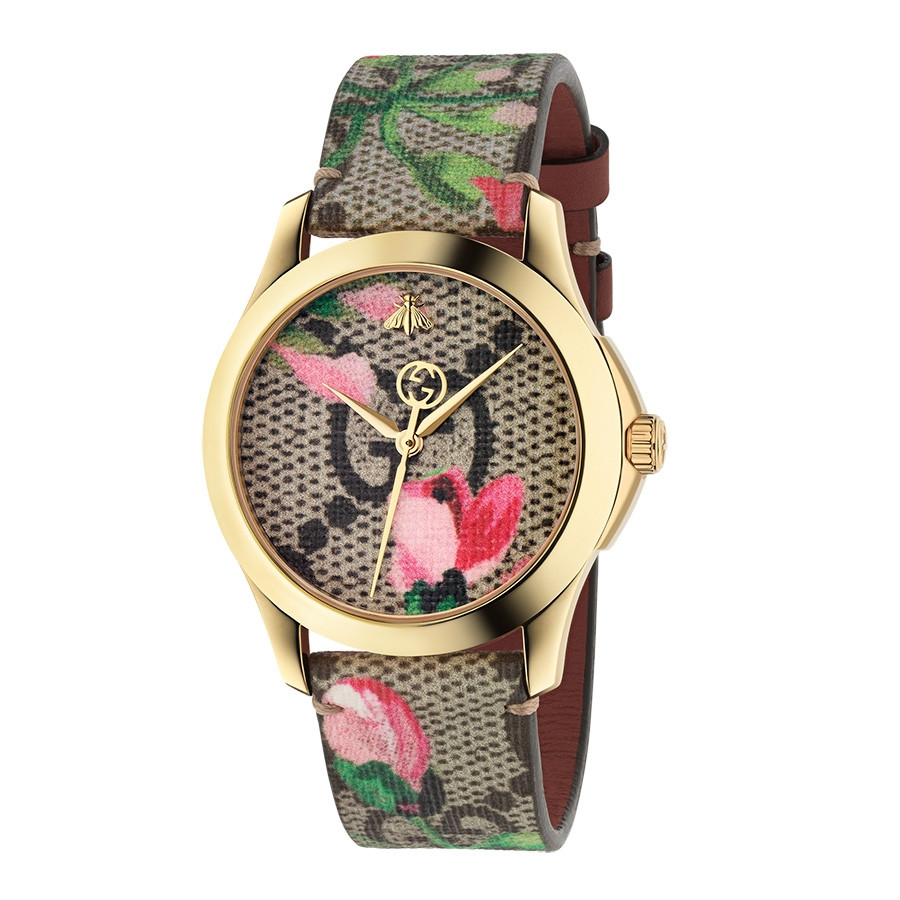 Gucci Pink G-Timeless GG Blooms Supreme Watch