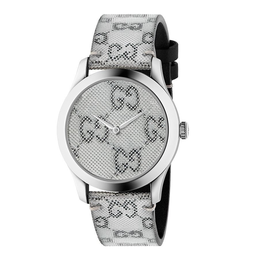 Gucci G-Timeless Grey Hologram Watch - 38mm Silver Case FRONT