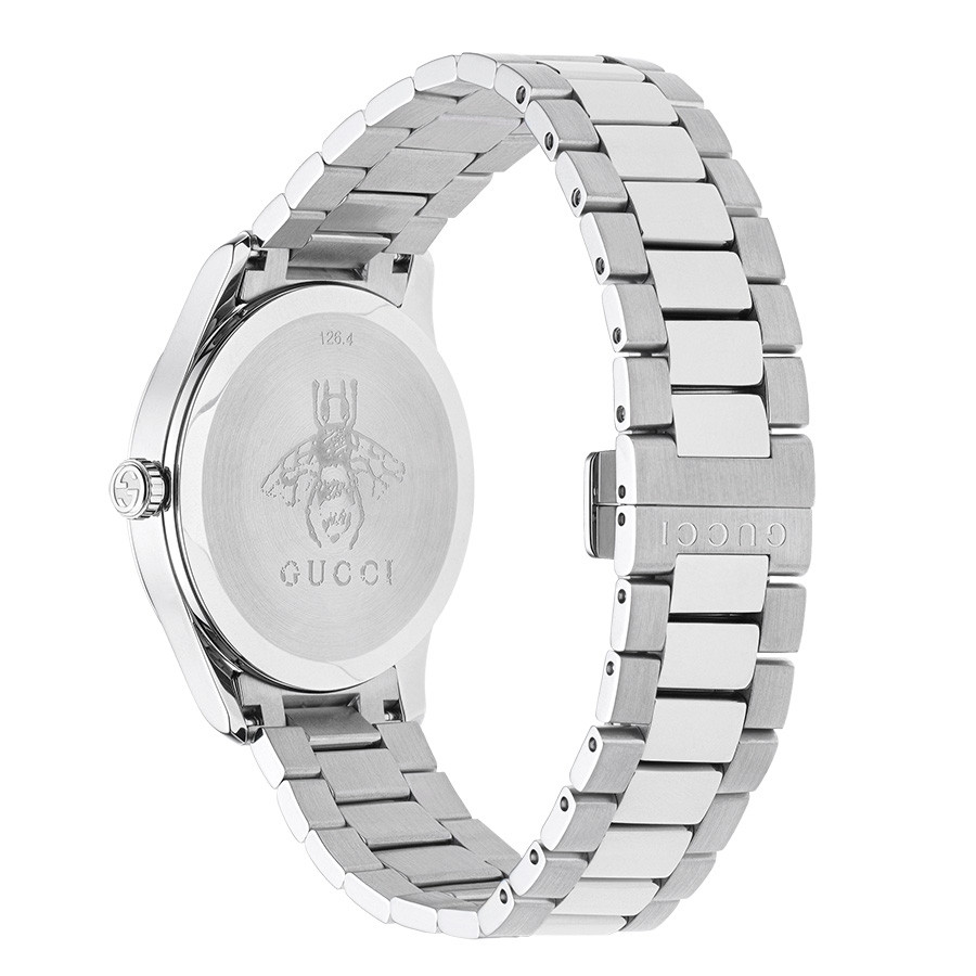 Gucci Stainless Steel G-Timeless Kingsnake Dial Watch Back VIew