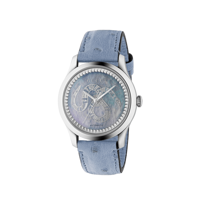 Gucci G,Timeless 38mm Snake Mother of Pearl Watch