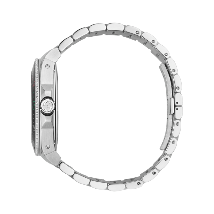 Gucci Dive 45mm Stainless Steel Snake Watch side