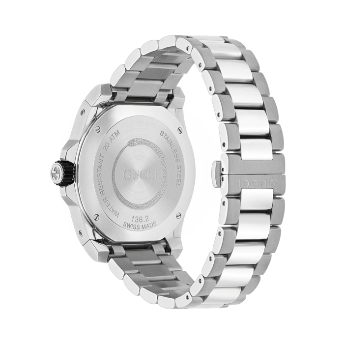 Gucci Dive 45mm Stainless Steel Snake Watch angle