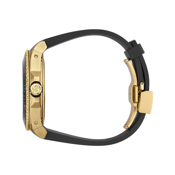 Gucci Dive 45mm Yellow Gold Snake Watch side