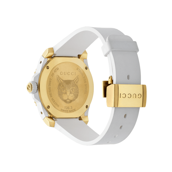 Gucci Dive 40mm Gold Feline Watch angle