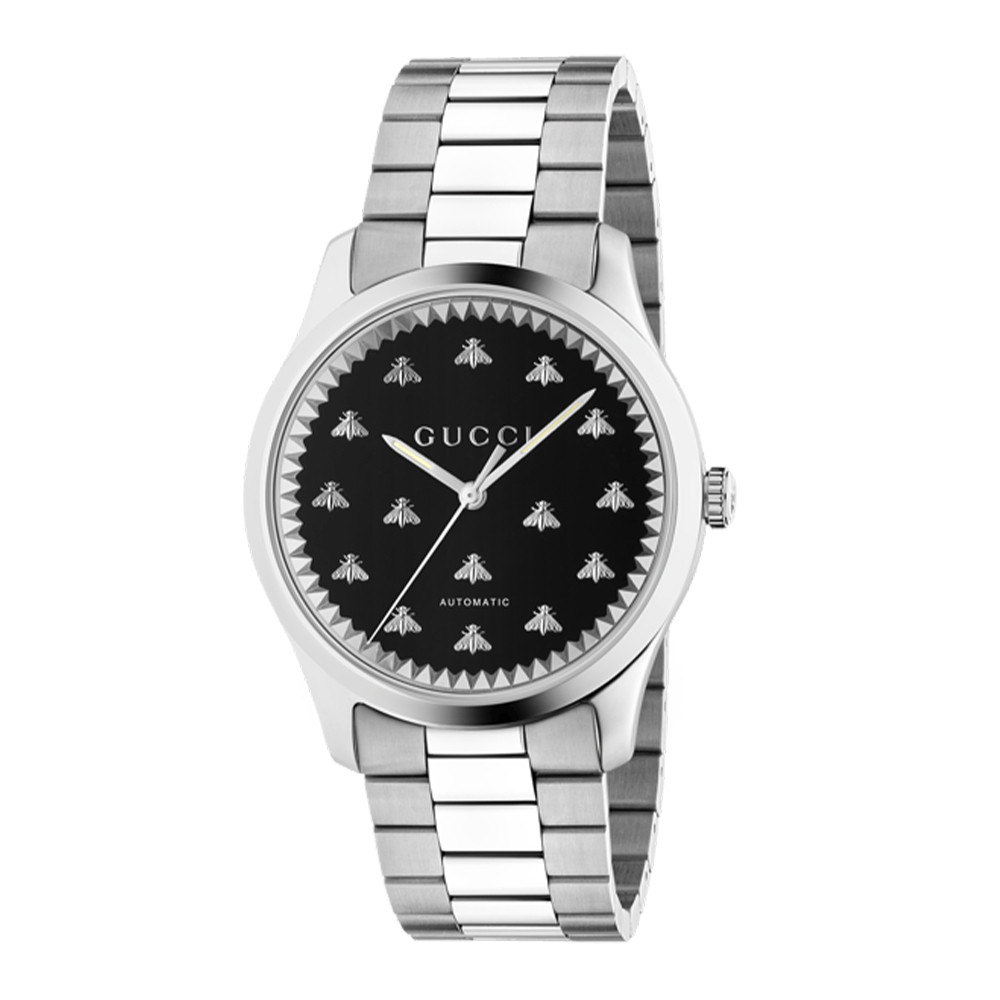 Gucci G-Timeless 42mm Stainless Steel Watch Side Image angle