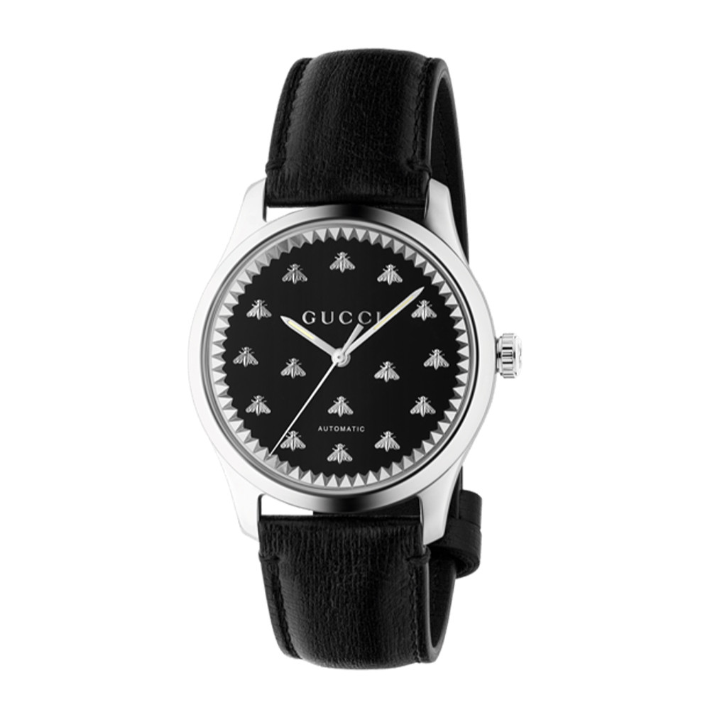 Gucci G-Timeless Black Dial 42mm Steel Watch Side Image
