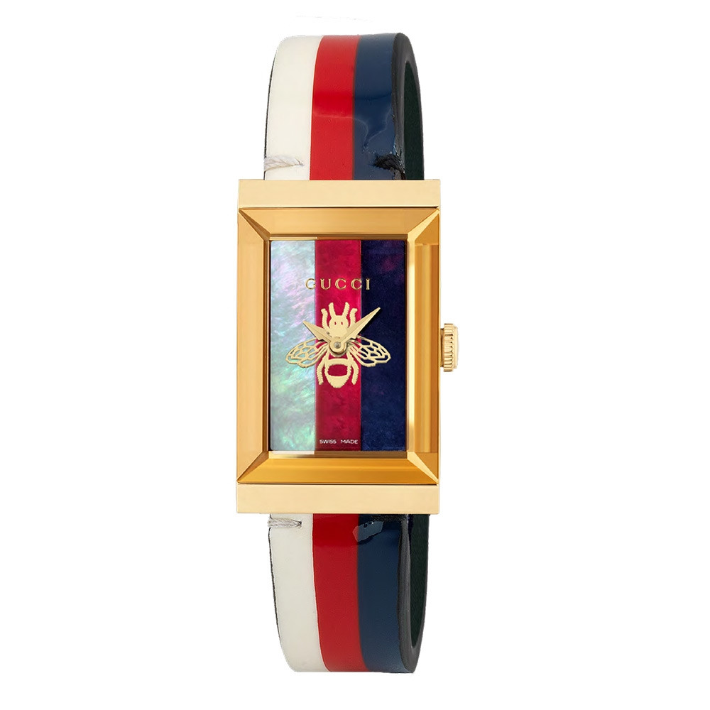 Gucci G-Frame Multi-Colored Mother of Pearl Bee Dial Watch