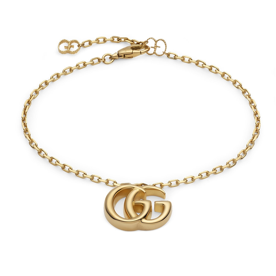 Gucci Yellow Gold GG Running Double G Charm Bracelet