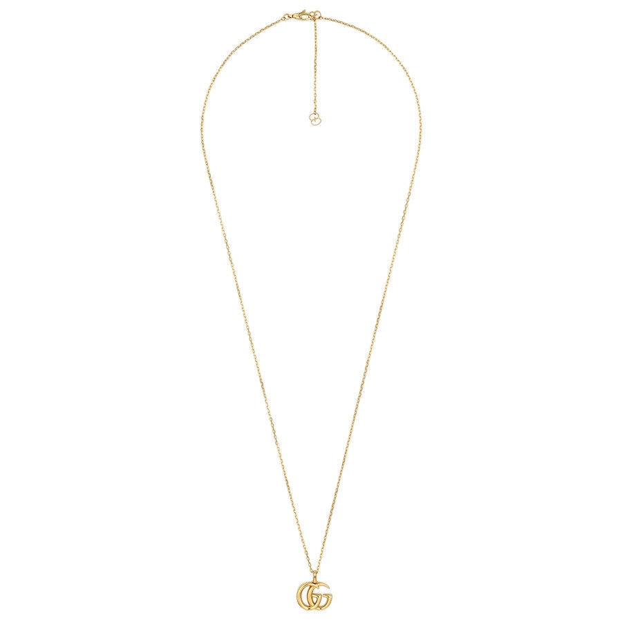 Gucci Yellow Gold Small Double G Pendant Necklace Full View