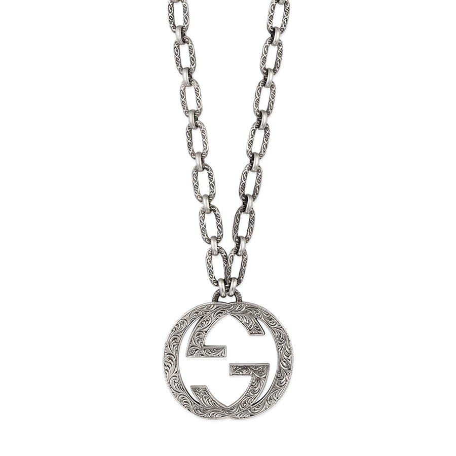 Gucci Interlocking G Silver Large Pendant J R Dunn Jewelers