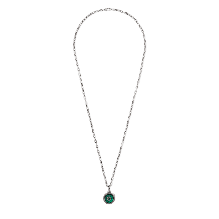 f32b1759c84 Gucci Garden Sterling Silver and Green Coin Necklace