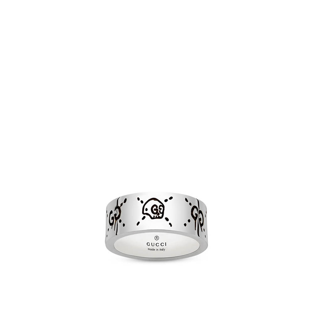 Gucci Ghost 9mm Silver Band