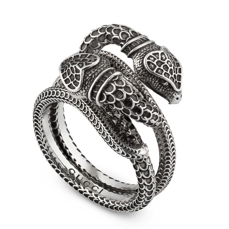 Gucci Garden Small Intertwined Sterling Silver Kingsnake Ring
