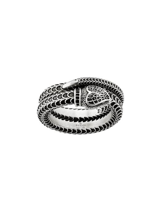 Gucci Sterling Silver Double Band Snake Ring side image