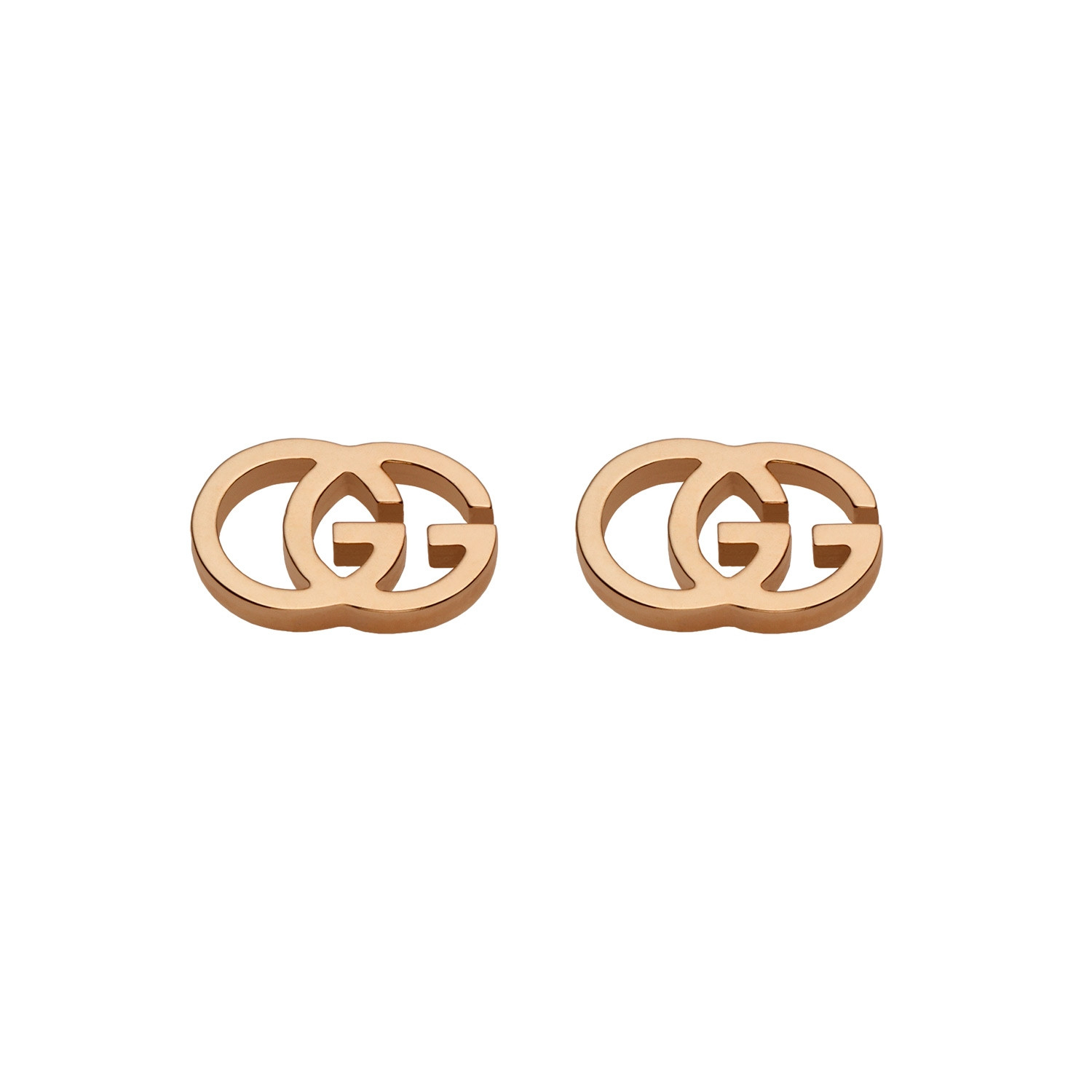 Gucci GG Running Stud Earrings in Rose Gold