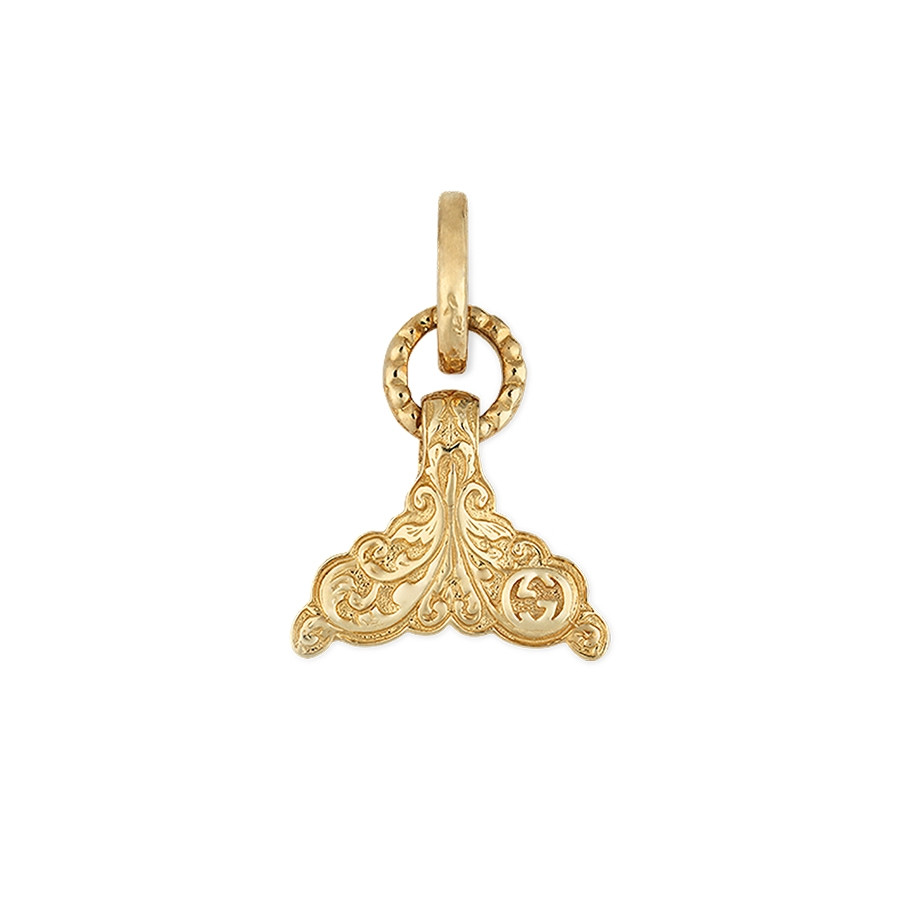 Gucci Yellow Gold Tail Fin Pendant Charm