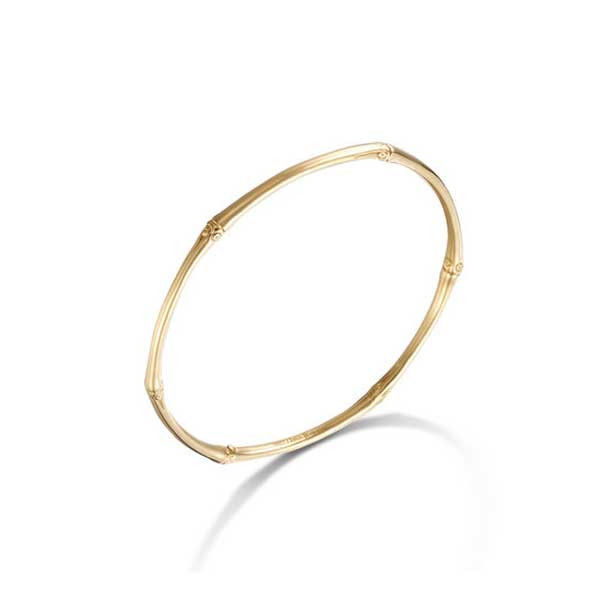 John Hardy Gold Slim Bamboo Bangle Angle View