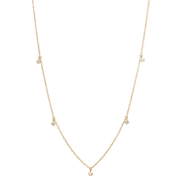 Zoe Chicco Yellow Gold Diamond Station Necklace