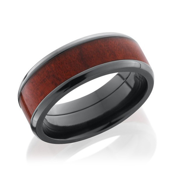 Lashbrook 8mm Flat Honduras Redheart Wood Band