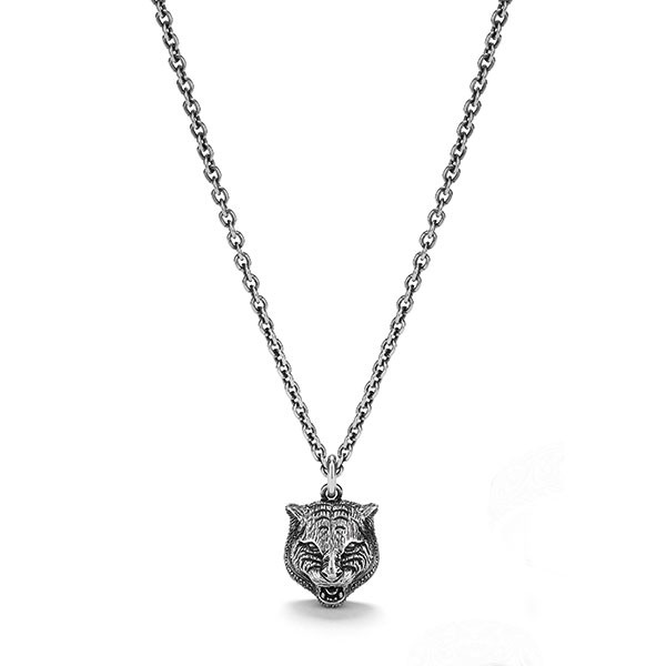 gucci necklace mens. gucci gatto silver men\u0027s necklace. zoom necklace mens n