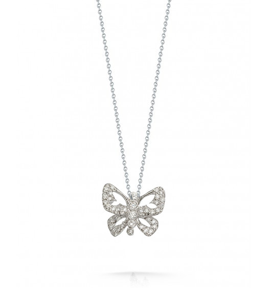 Roberto coin 000365awchx0 diamond butterfly necklace roberto coin tiny treasures butterfly with diamonds necklace mozeypictures Gallery