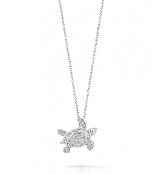 Roberto coin 000440awchx0 diamond sea turtle necklace roberto coin tiny treasures 18kt white gold sea turtle pendant necklace 015ctw mozeypictures Images